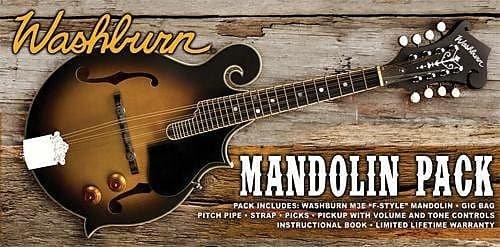 Washburn Mandolin pack - F-style w/pickup
