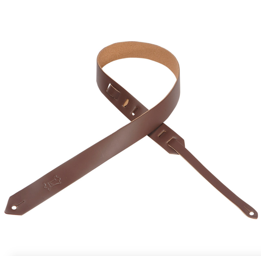 Classic Series Brown Leather Guitar Strap