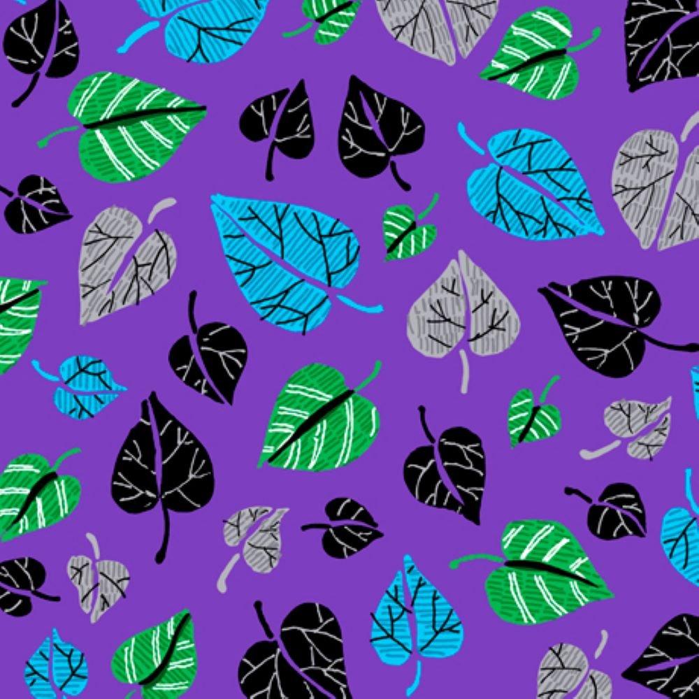 Leaf Toss - Caribe - QT Fabrics