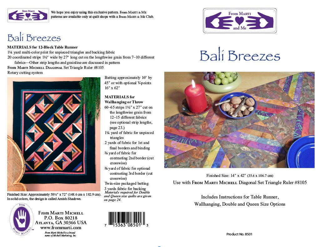 Marti Michell Bali Breezes Pattern