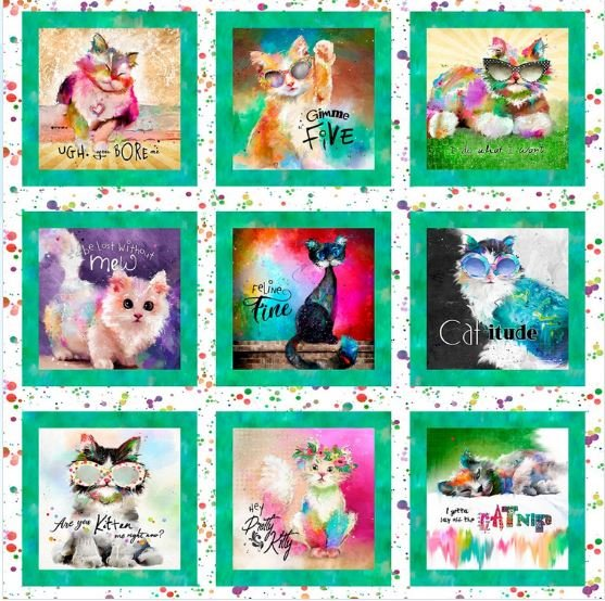 3 Wishes Good Kitty Cat Panel