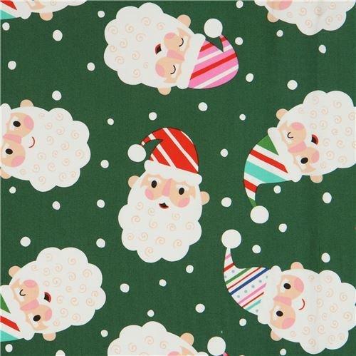 Alexander Henry Christmas Time Santa & Dots