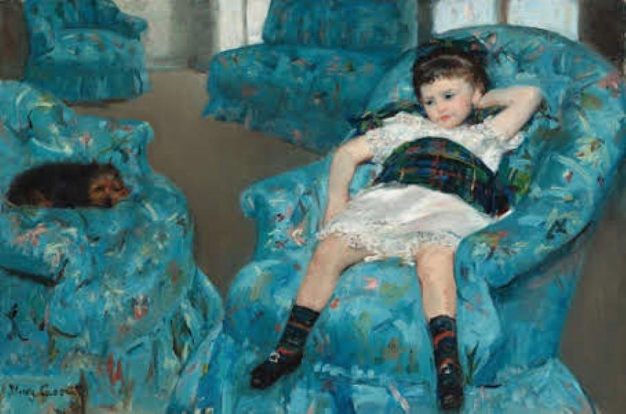 Fat Stack Little Girl in an Armchair - Batiks