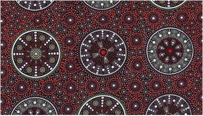 Aboriginal Prints Wildflowers After Rain