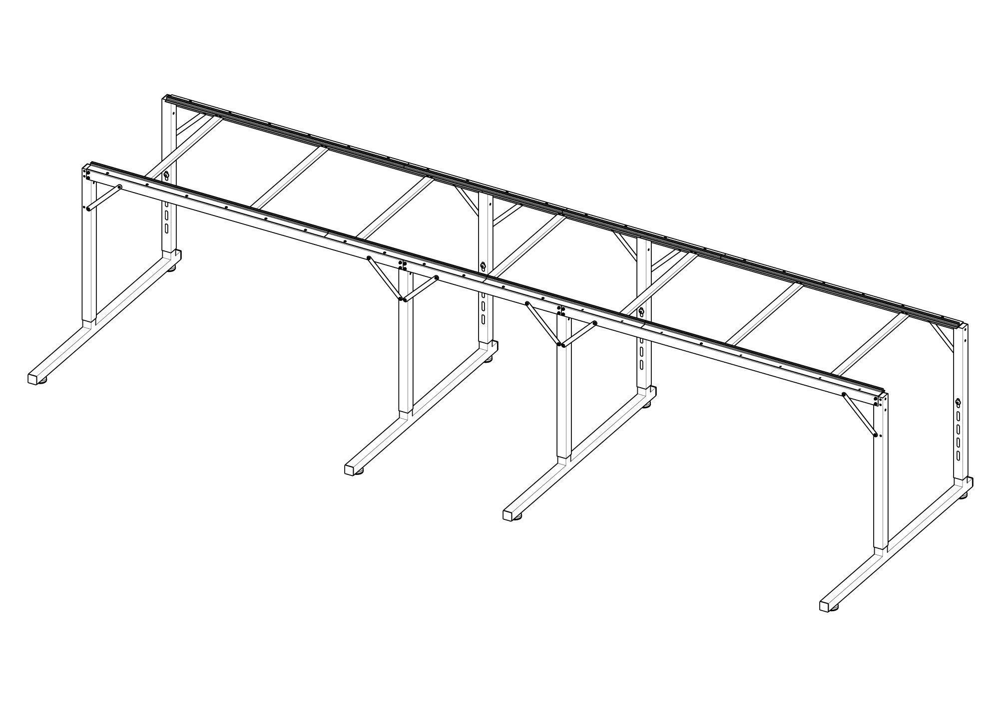 HQ Loft Frame 2 ft Extension