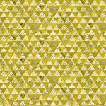 Wish - Collaged Triangles - Olive Oil with Metallic