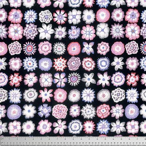 Button Flowers - Contrast