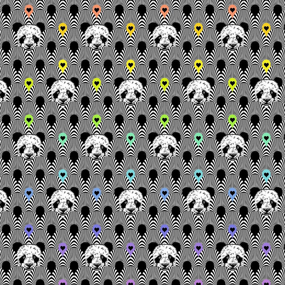Pandamonium - Ink - Linework by Tula Pink