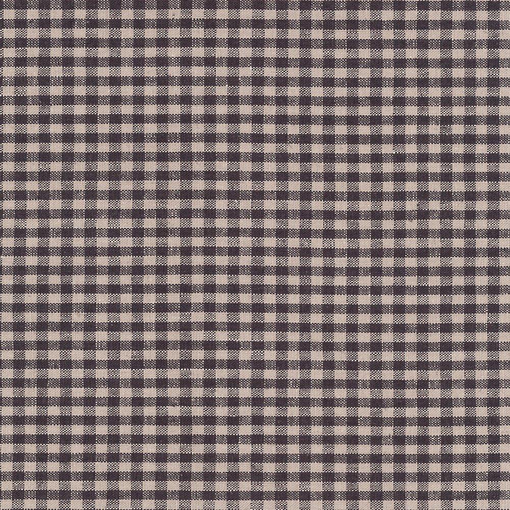Shabby Chic Linen Dark Violet Gingham