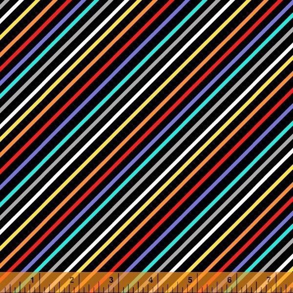 Farm Friends Rainbow Stripe Black
