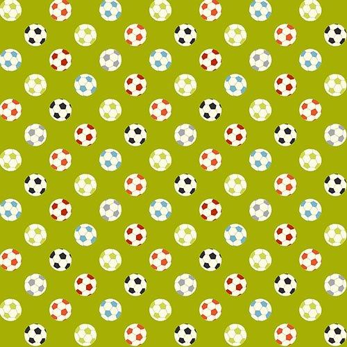 Soccer Balls on Lime