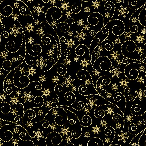 Winter Elegance Swirling Frost Black w/Gold