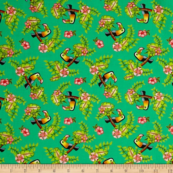 Pink Lady - Green Toucans