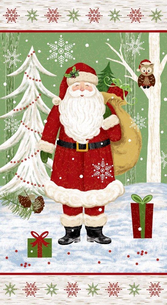 Woodland Noel Santa Panel