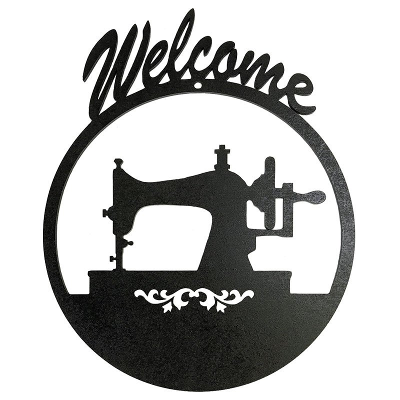 Wood Sign Welcome Sewing Machine