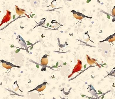 Flight of Fancy Bird Scenes by Diane Neukirch Light Butter