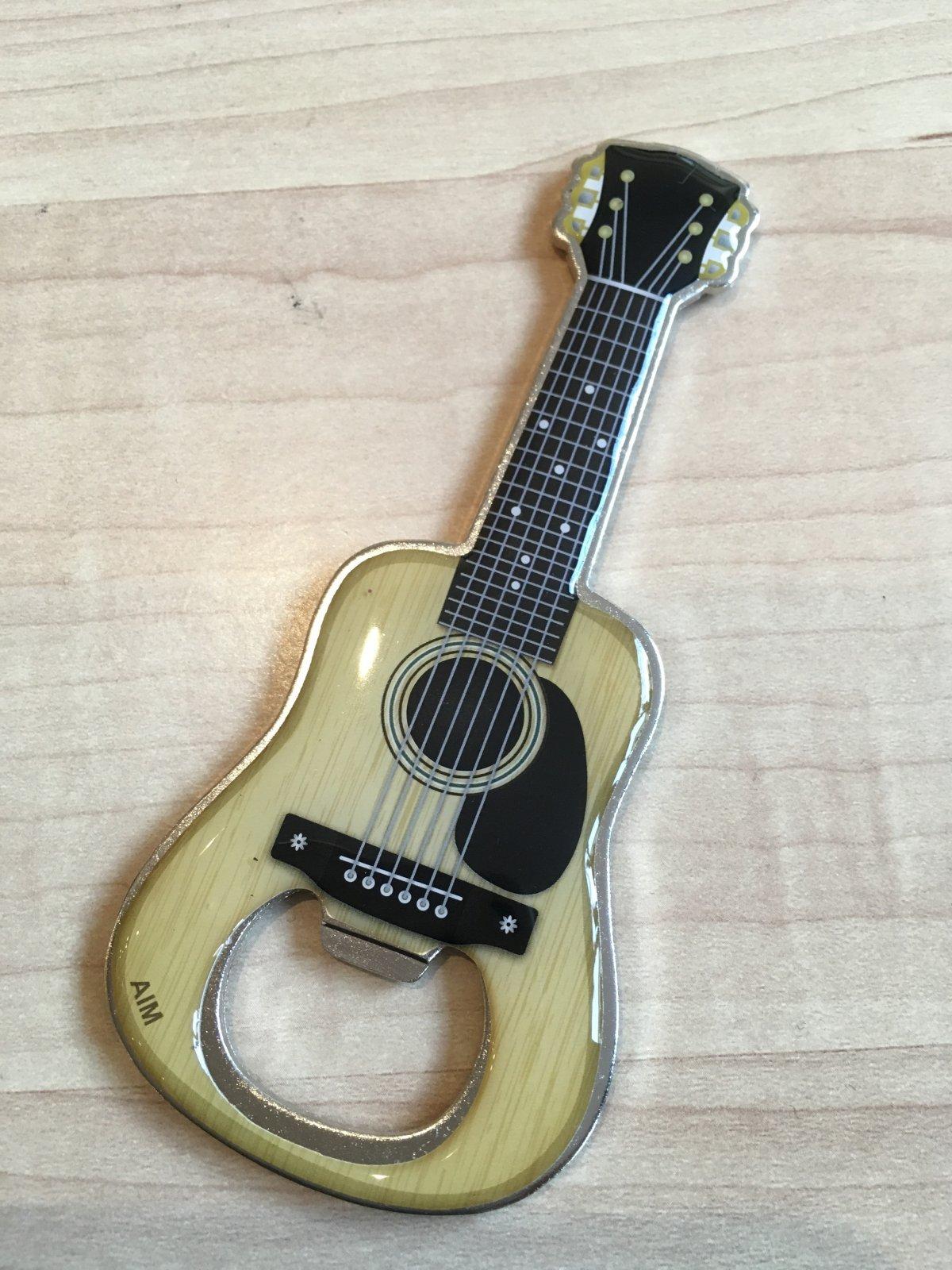 Acoustic Guitar Bottle Opener Magnet