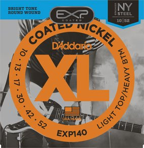 D'Addario EXP140 Light Top/Heavy Bottom Coated Nickle
