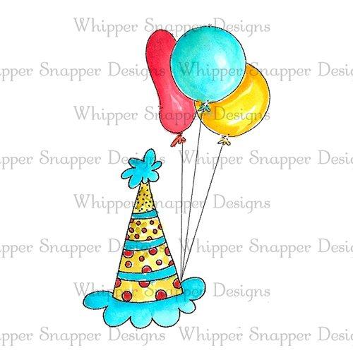 BIRTHDAY HAT & BALLOONS