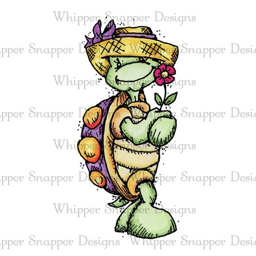 GIRL TURTLE HOLDING FLOWER