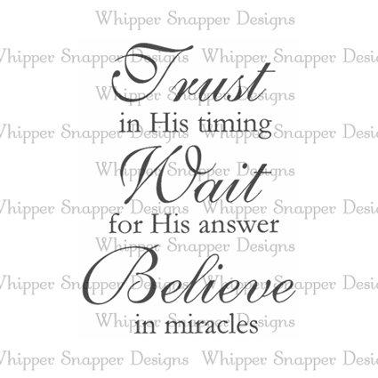 TRUST WAIT BELIEVE