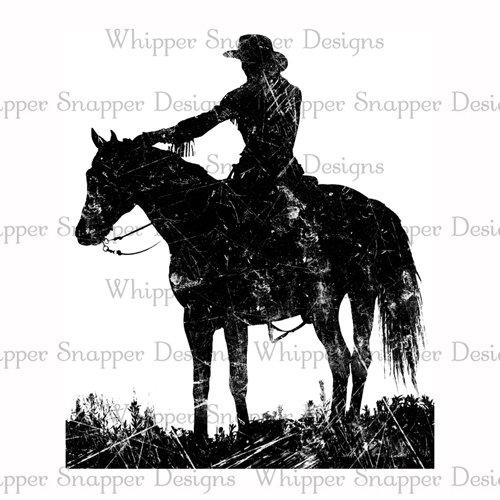 COWGIRL ON HORSEBACK