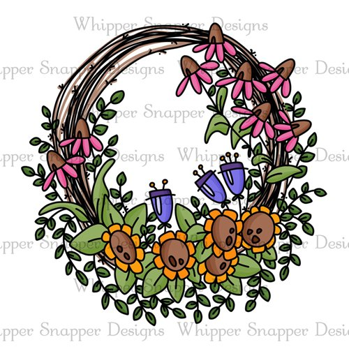 FLORAL & GRAPEVINE WREATH