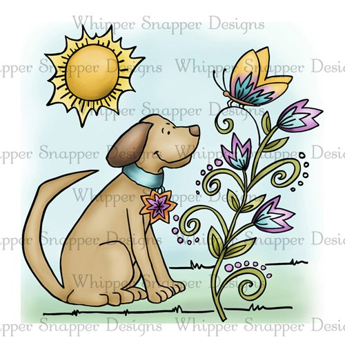 PUPPY WITH BUTTERFLY