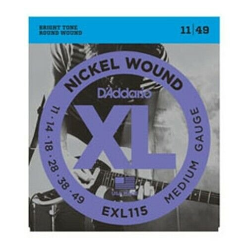 D'Addario EXL115 Electric Guitar Strings, Medium/Blues-Jazz Rock, 11-49
