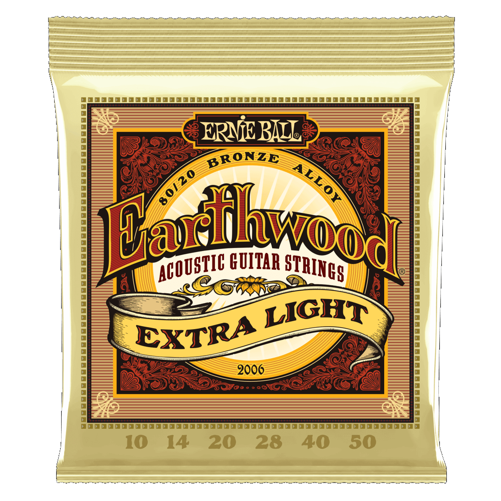 Earthwood 80/20 Bronze Acoustic Guitar Strings 10-50 Extra Light