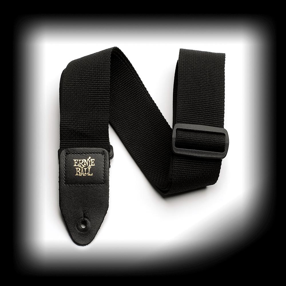 Black Polypro Guitar Strap - Ernie Ball P04037