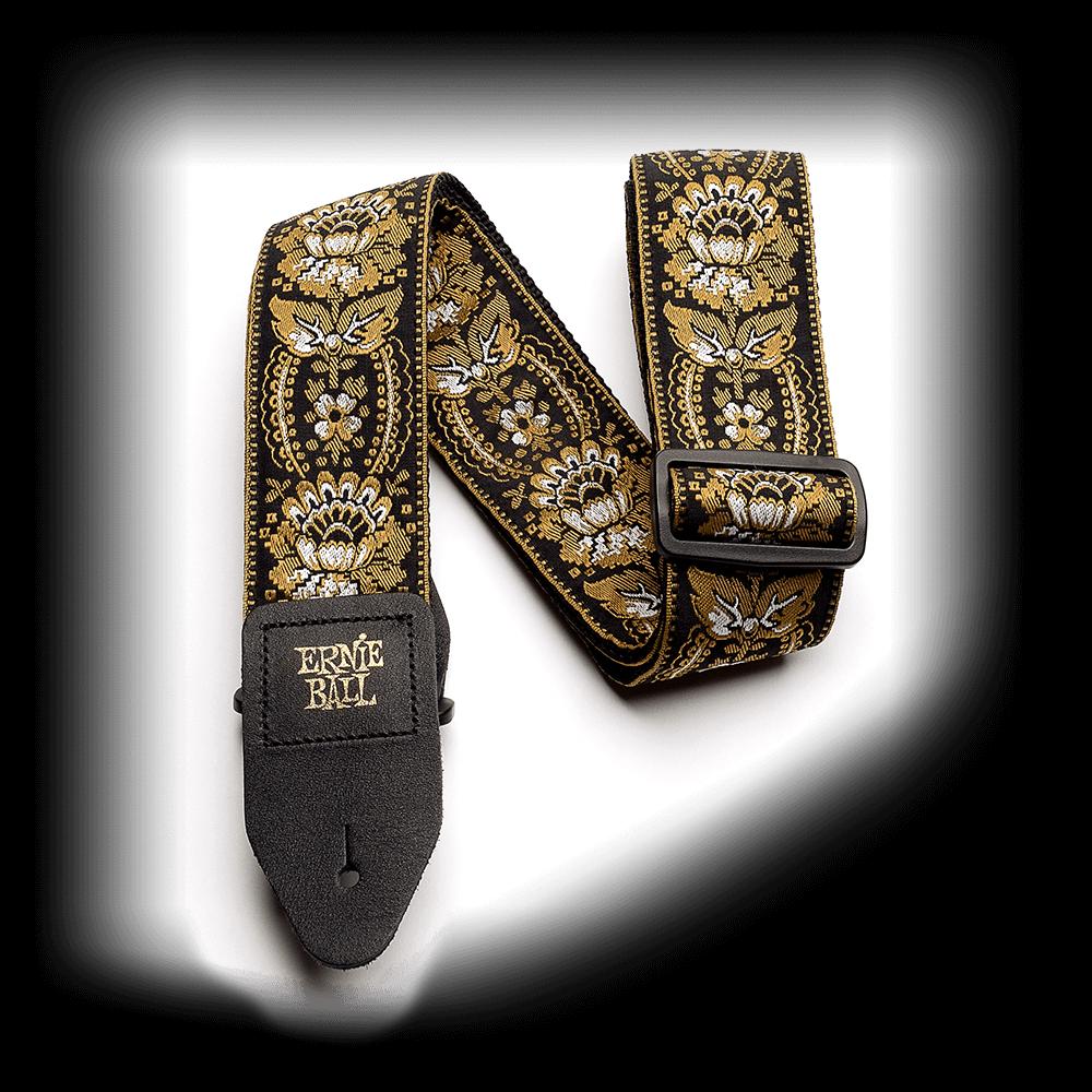 Royal Orleans Gold Jacquard Guitar Strap - Ernie Ball P04151
