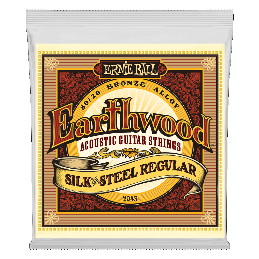 Earthwood Silk & Steel Regular 80/20 Bronze Acoustic Guitar Strings - 13-56 GAUGE P02043