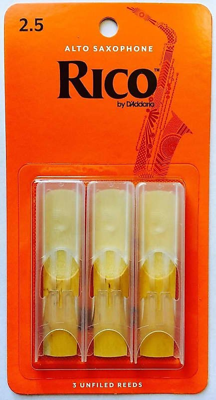 Rico Also Sax Reeds 3 Pack #2.5 RJA0325
