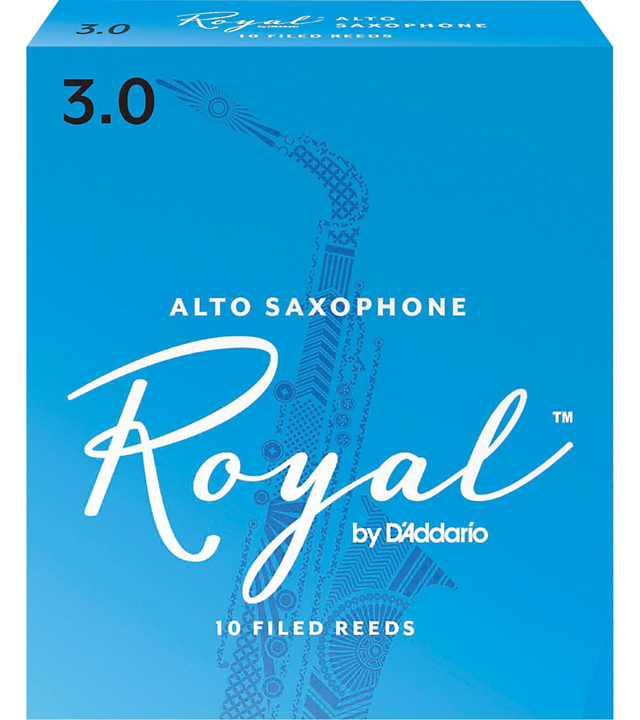 Rico Royal Alto Sax Reeds #3 10/box RRAS3
