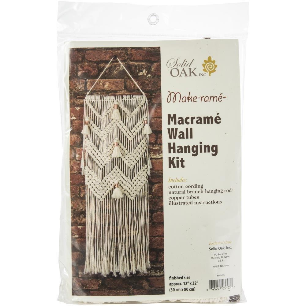 Macrame Wall Hanger Kit-Chevrons & Tassels