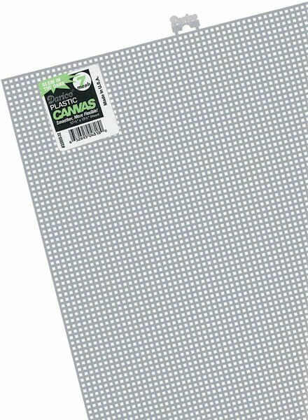 Darice Plastic Canvas 7 Count 10X13-White