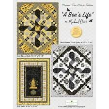 A Bee's Life Gold  Throw Quilt Kit