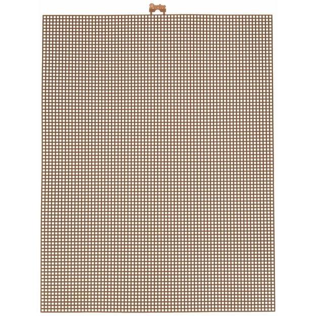 Darice Plastic Canvas 7 Count 10X13-Brown