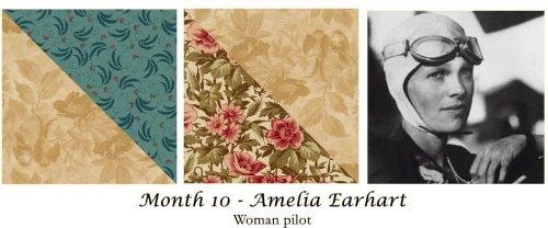 Women of Courage - BOM Kit #10 Amelia Earhart Block