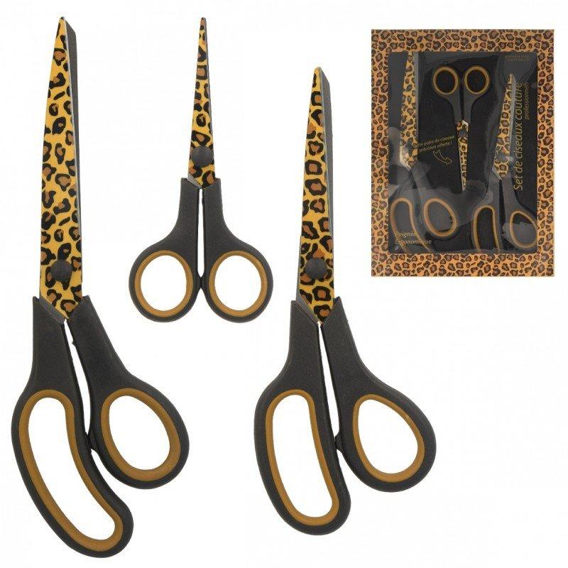 Professional sewing scissors set - Leopard print
