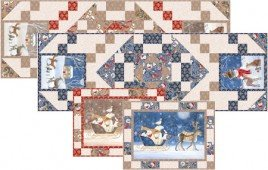 Woodland Dream Table Runner and Placemats Kit, Blue