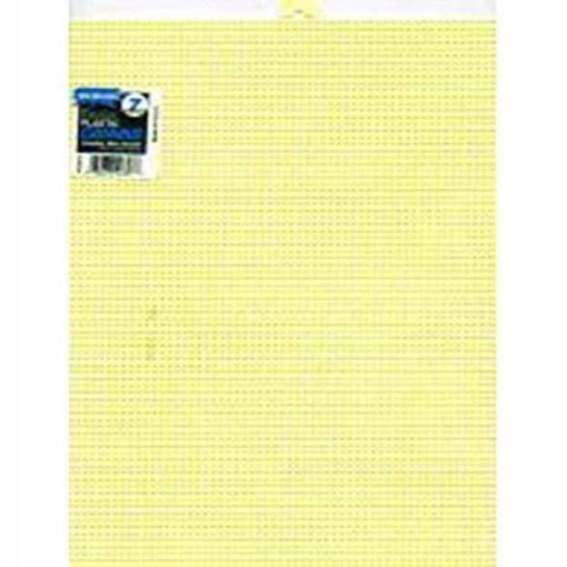 Darice Plastic Canvas 7 Count 10X13-Yellow