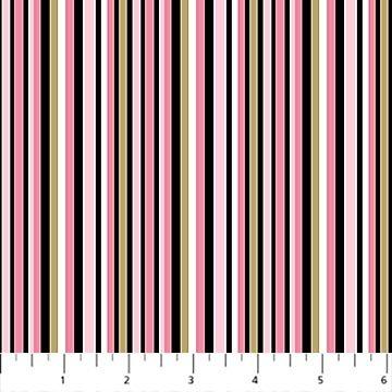 Believe in Magic -- 23233M-10 Barcode Stripe White Multi