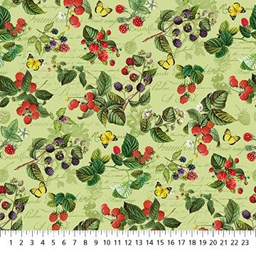 Briarwood -- 23295-74 -- Feature Berries Green Multi