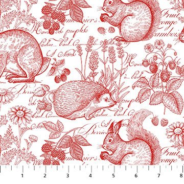 Briarwood -- 23300-24 -- Briarwood Toile Red/White
