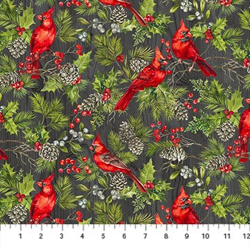 The Scarlet Feather -- 23474-96 Cardinals/Charcoal Multi