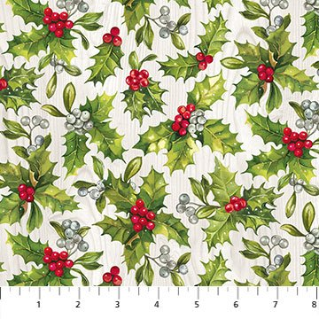 The Scarlet Feather -- 23476-91 Holly Toss/Pale Gray Multi