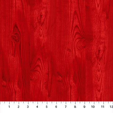 The Scarlet Feather -- 23480-24 Wood Grain/Red