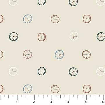 Away We Go -- 90119-11  Beige Clocks